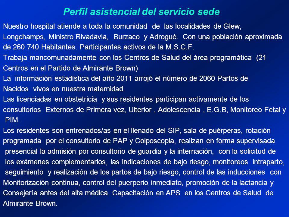 Estructura del servicio Recursos humanos Jefe del Servicio de Obstetricia y Ginecología.
