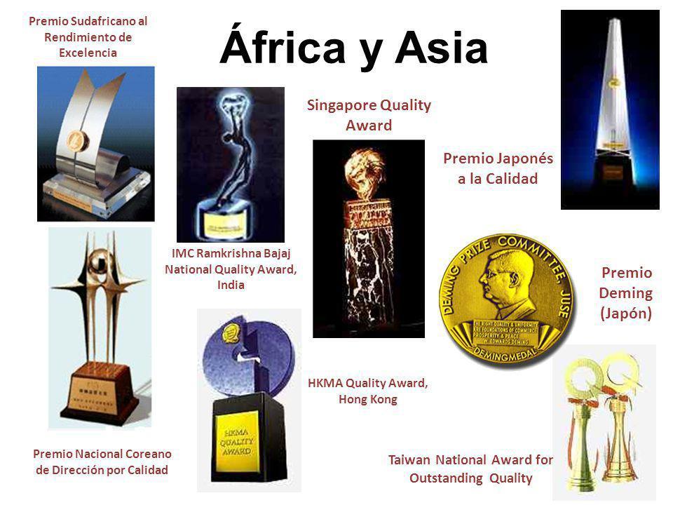 Premio Japonés a la Calidad IMC Ramkrishna Bajaj National Quality Award, India Premio Deming (Japón) África y Asia Taiwan National Award for Outstandi
