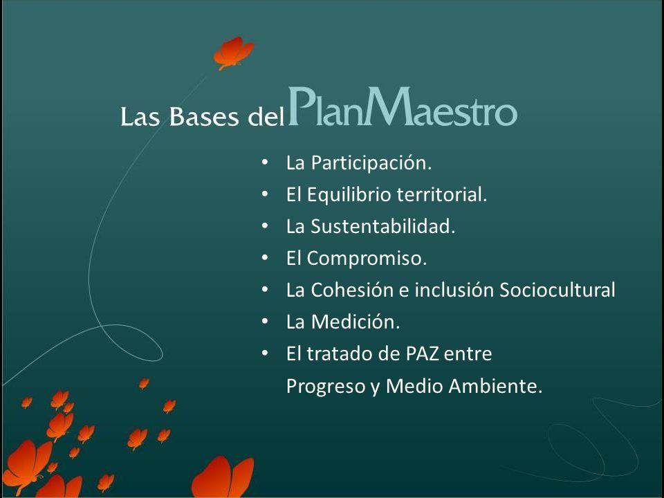 La Participación. El Equilibrio territorial. La Sustentabilidad.