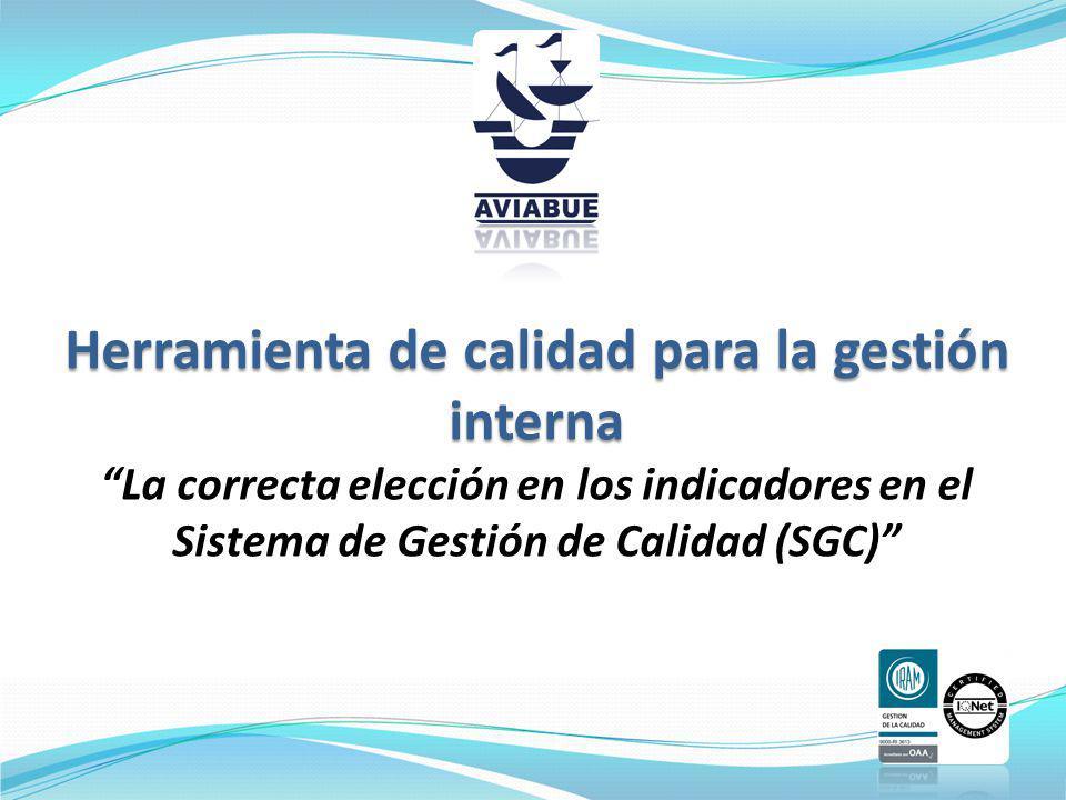 Herramienta de calidad para la gestión interna La correcta elección en los indicadores en el Sistema de Gestión de Calidad (SGC)