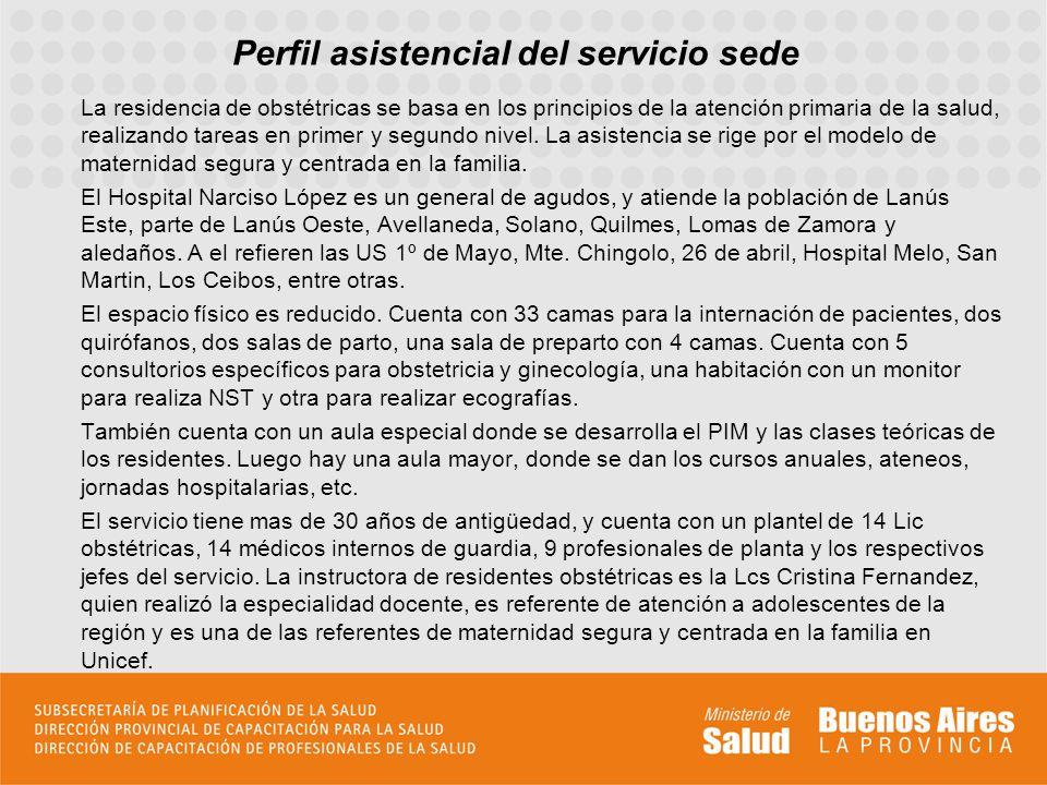 Perfil asistencial del servicio sede El jefe de docencia es el Dr Juan Carlos Celhay, quien además de haber sido jefe del servicio, fue quien realizó los primeros monitoreos de Lanús.