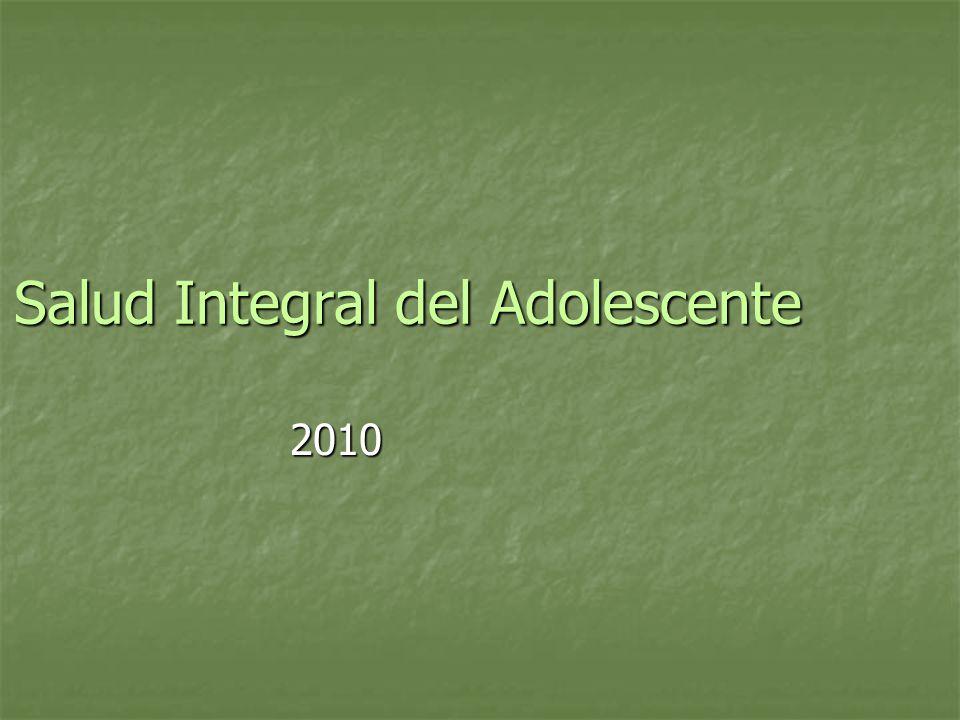Salud Integral del Adolescente 2010