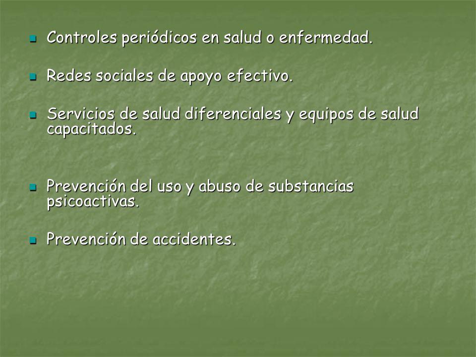 Controles periódicos en salud o enfermedad. Controles periódicos en salud o enfermedad. Redes sociales de apoyo efectivo. Redes sociales de apoyo efec