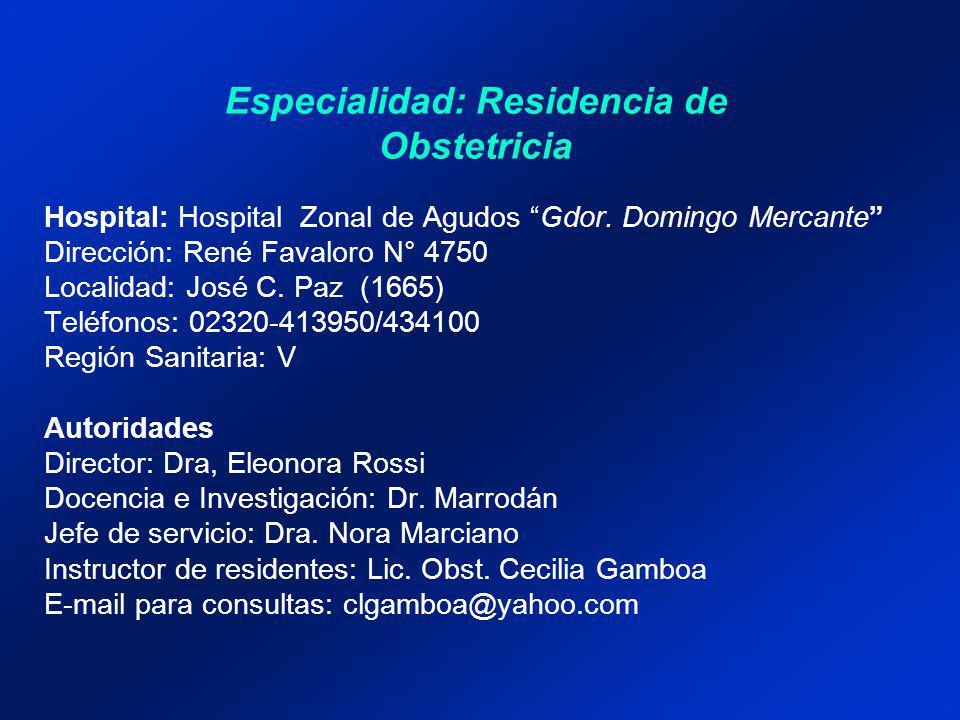 Hospital: Hospital Zonal de Agudos Gdor.