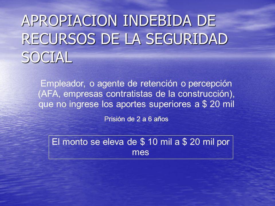 INSOLVENCIA FISCAL FRAUDULENTA Se incorporan las obligaciones de provincias y ciudad de Buenos Aires de: SIMULACION DOLOSA DE PAGO ALTERACION DOLOSA DE REGISTROS de soportes documentales o informáticos del Fisco de controladores fiscales o equipos homologados