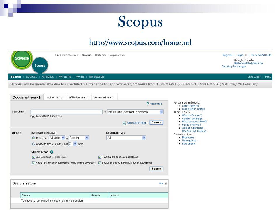 Scopus http://www.scopus.com/home.url