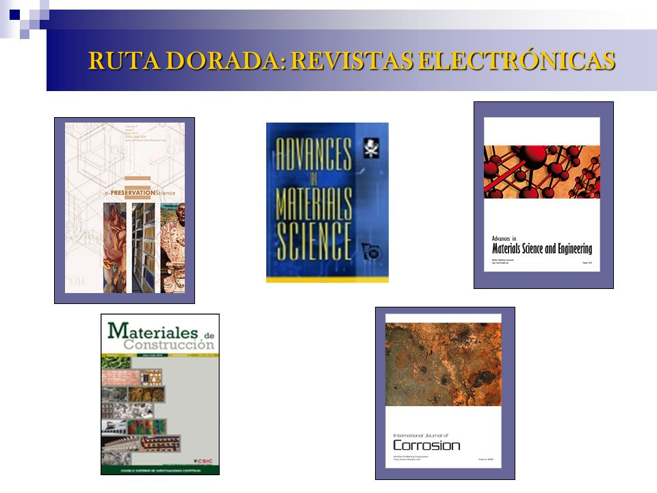 RUTA DORADA: REVISTAS ELECTRÓNICAS