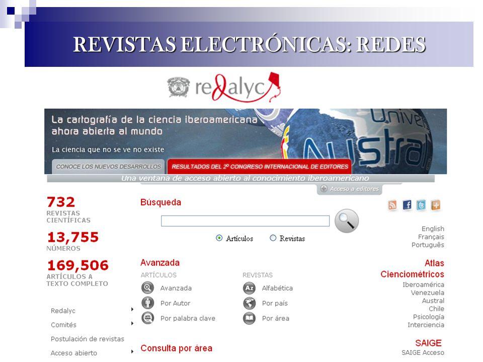 REVISTAS ELECTRÓNICAS: REDES