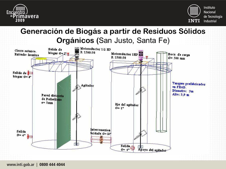 Generación de Biogás a partir de Residuos Sólidos Orgánicos ( San Justo, Santa Fe)