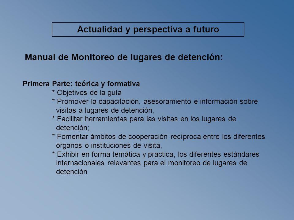 Procesos de monitoreo 1.Establecimiento de un programa de monitoreo - programa de visita 2.