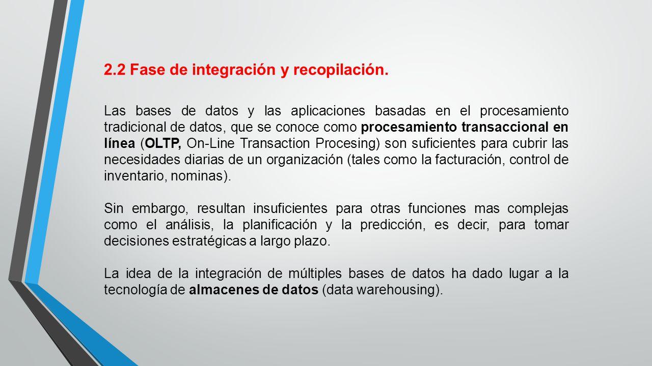 2.2 Fase de integración y recopilación.