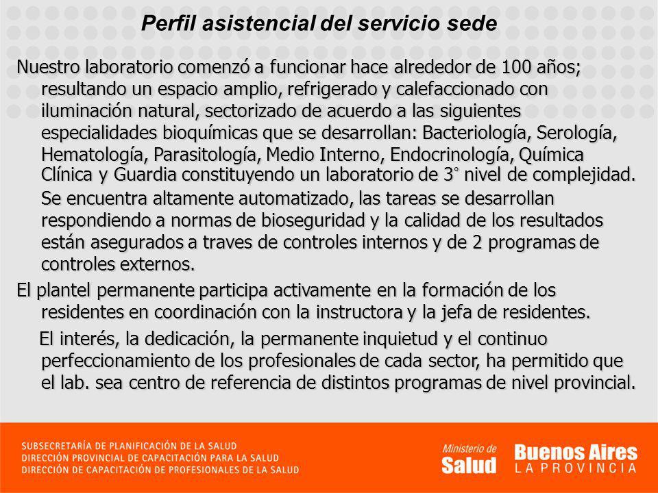 Perfil asistencial del servicio sede El laboratorio integra las siguientes redes de diagnóstico de Sarampión y Rubéola, del Programa Nacional de Eliminación de Sarampión y Rubeola.