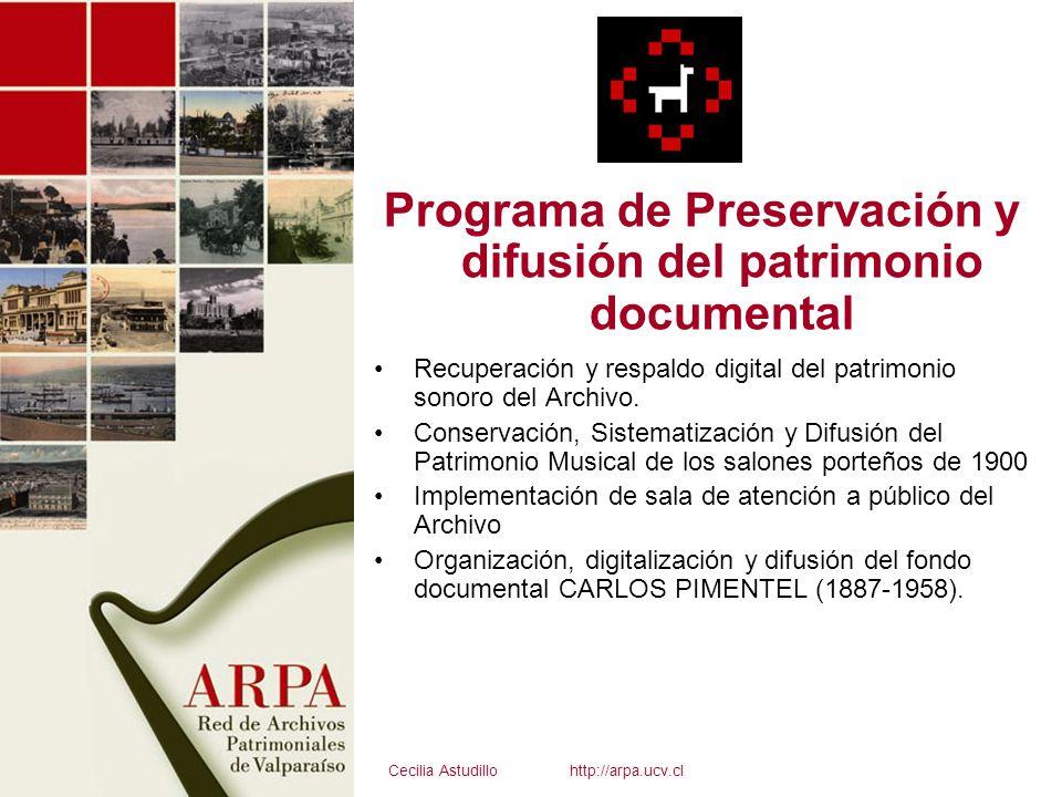 Programa de Preservación y difusión del patrimonio documental Recuperación y respaldo digital del patrimonio sonoro del Archivo. Conservación, Sistema