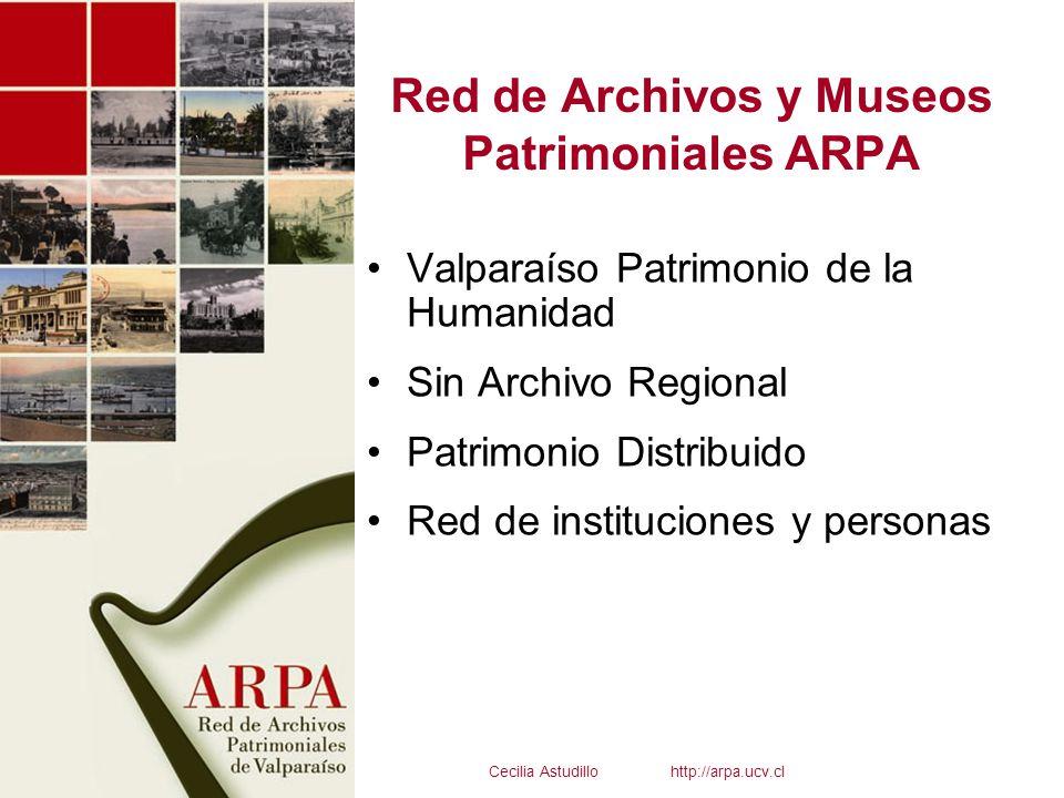 Red de Archivos y Museos Patrimoniales ARPA Valparaíso Patrimonio de la Humanidad Sin Archivo Regional Patrimonio Distribuido Red de instituciones y p