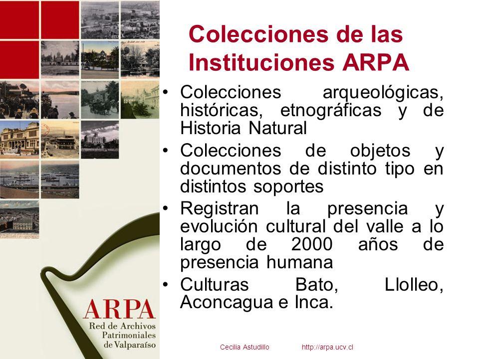 Colecciones de las Instituciones ARPA Colecciones arqueológicas, históricas, etnográficas y de Historia Natural Colecciones de objetos y documentos de