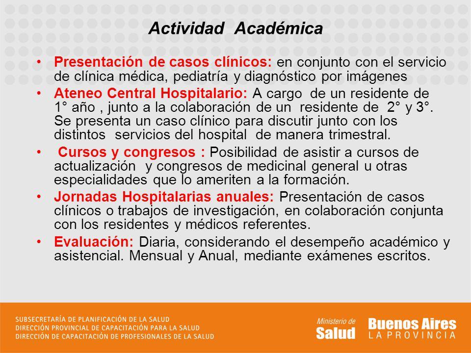 Presentación de casos clínicos: en conjunto con el servicio de clínica médica, pediatría y diagnóstico por imágenes Ateneo Central Hospitalario: A car
