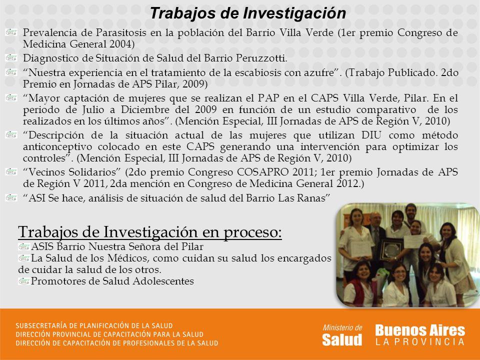 Trabajos de Investigación Prevalencia de Parasitosis en la población del Barrio Villa Verde (1er premio Congreso de Medicina General 2004) Diagnostico