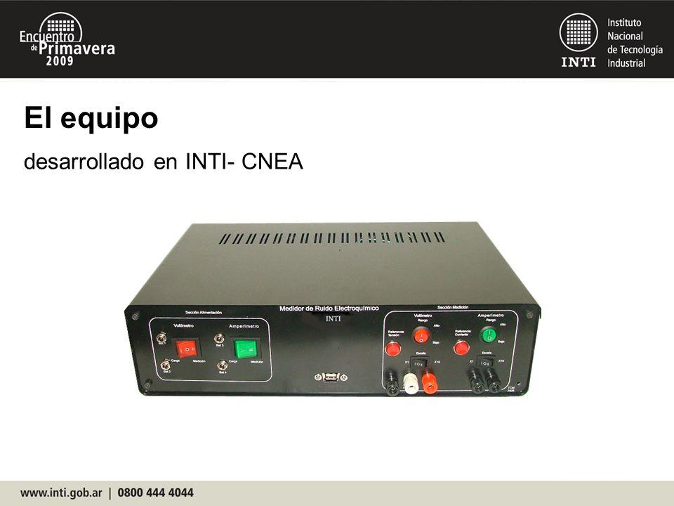 El equipo desarrollado en INTI- CNEA