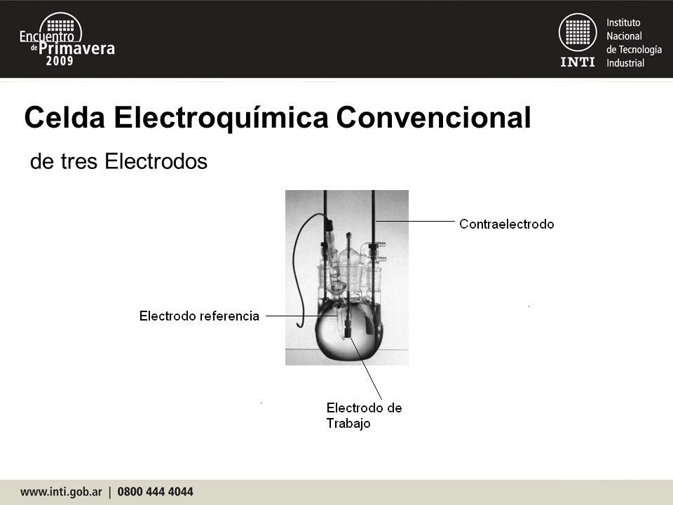 Celda Electroquímica Convencional de tres Electrodos