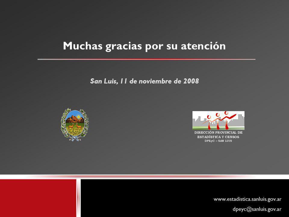 Muchas gracias por su atención San Luis, 11 de noviembre de 2008