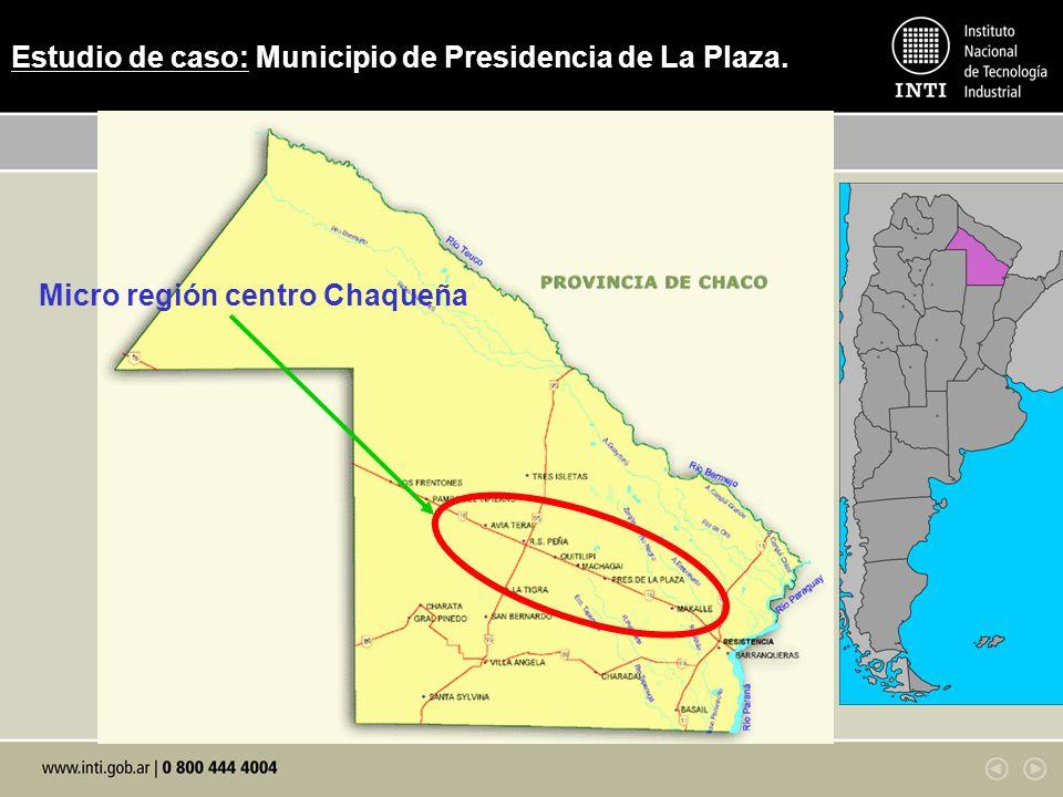 Estudio de caso: Municipio de Presidencia de La Plaza. Micro región centro Chaqueña