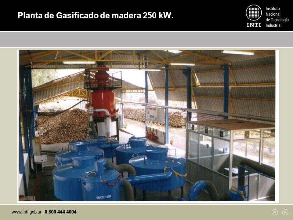 Planta de Gasificado de madera 250 kW.