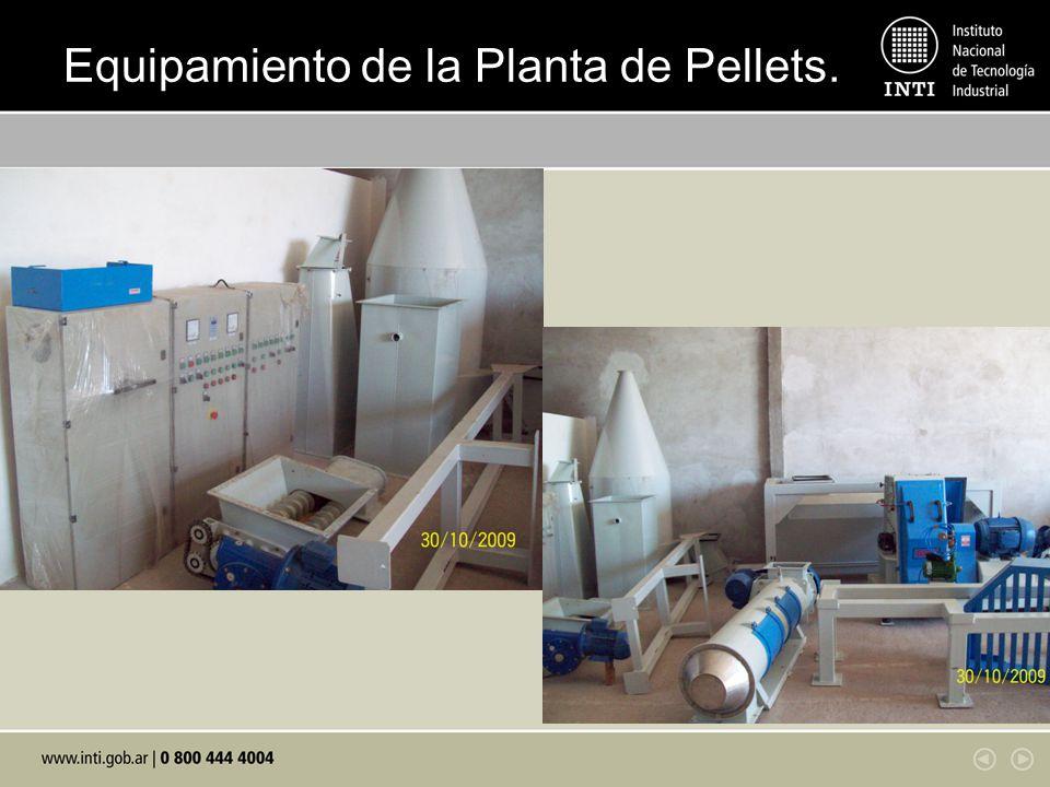 Equipamiento de la Planta de Pellets.