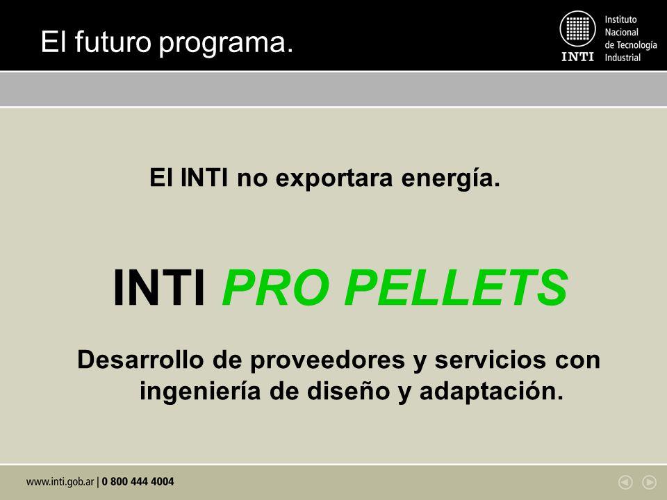 INTI PRO PELLETS El futuro programa.