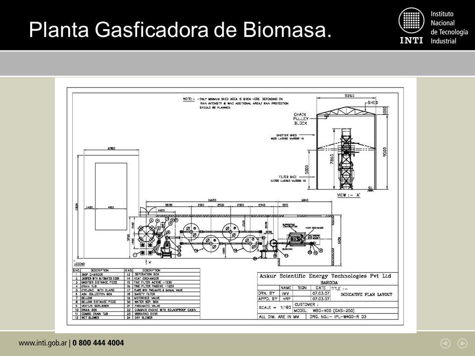 Planta Gasficadora de Biomasa.
