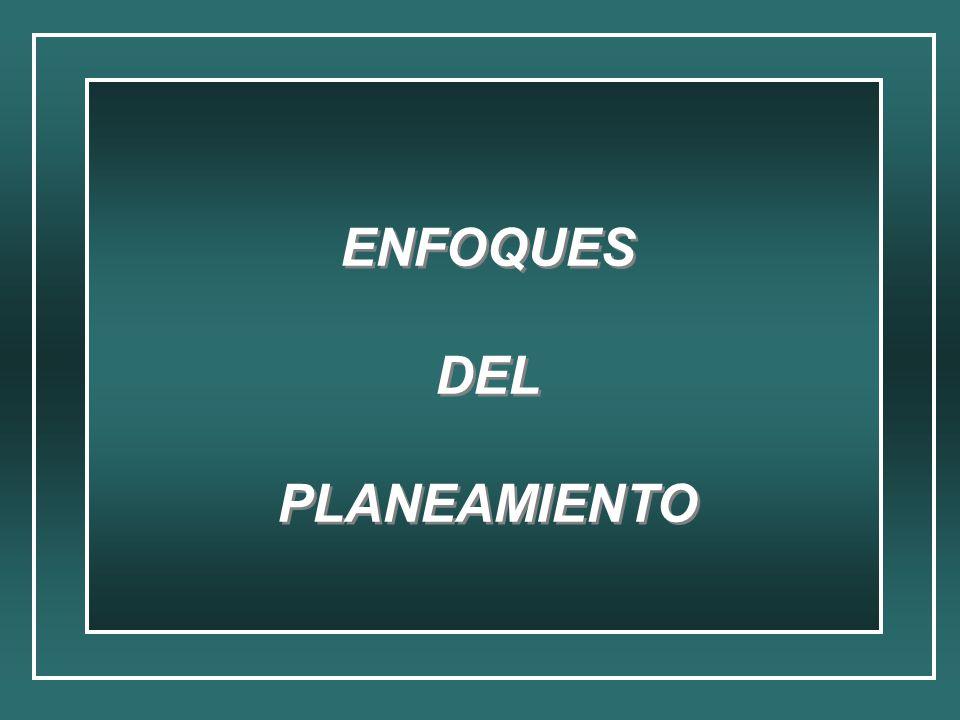 ENFOQUES DEL PLANEAMIENTO ENFOQUES DEL PLANEAMIENTO