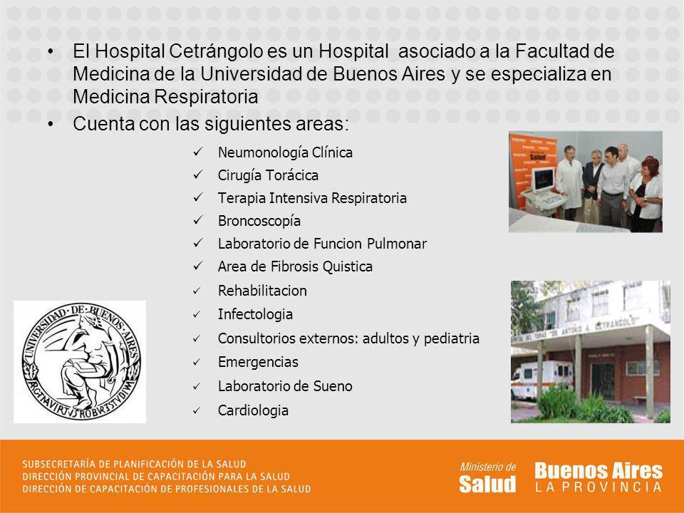 El Hospital Cetrángolo es un Hospital asociado a la Facultad de Medicina de la Universidad de Buenos Aires y se especializa en Medicina Respiratoria C