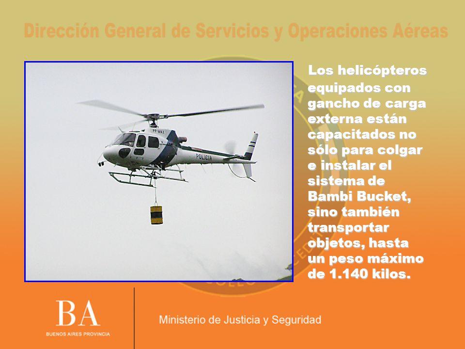 Los helicópteros equipados con gancho de carga externa están capacitados no sólo para colgar e instalar el sistema de Bambi Bucket, sino también trans