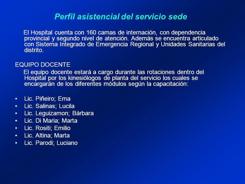 El Hospital cuenta con 160 camas de internación, con dependencia provincial y segundo nivel de atención.