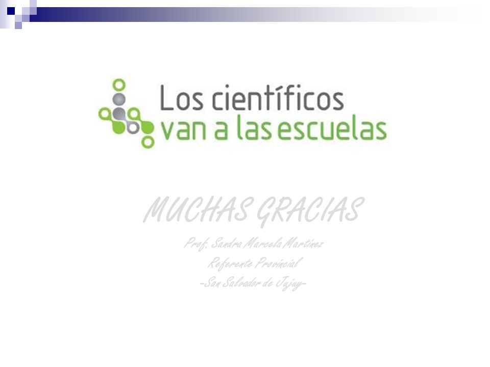 MUCHAS GRACIAS Prof. Sandra Marcela Martínez Referente Provincial -San Salvador de Jujuy-