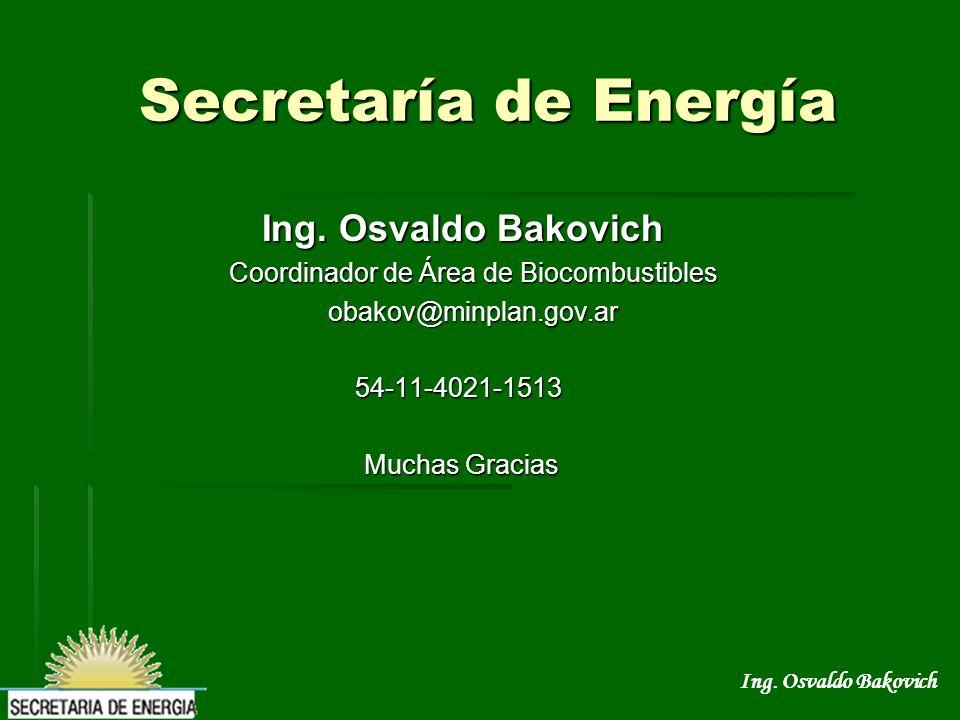 Ing.Osvaldo Bakovich Ing. Osvaldo Bakovich Ing.