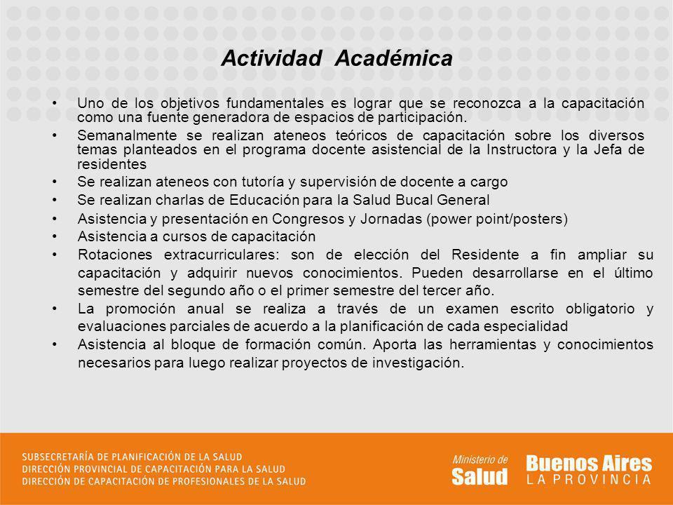Se desarrollan trabajos de investigación, dos de los cuáles ya han sido publicados (RAOA, 2007-2009) Actividades de Investigación Ocurrencia de Fisura Labio-Alveolo-Palatina (FLAP) en niños de zona norte del Gran Buenos Aires.