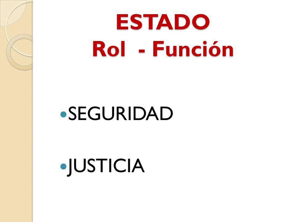 ESTADO Rol - Función SEGURIDAD JUSTICIA
