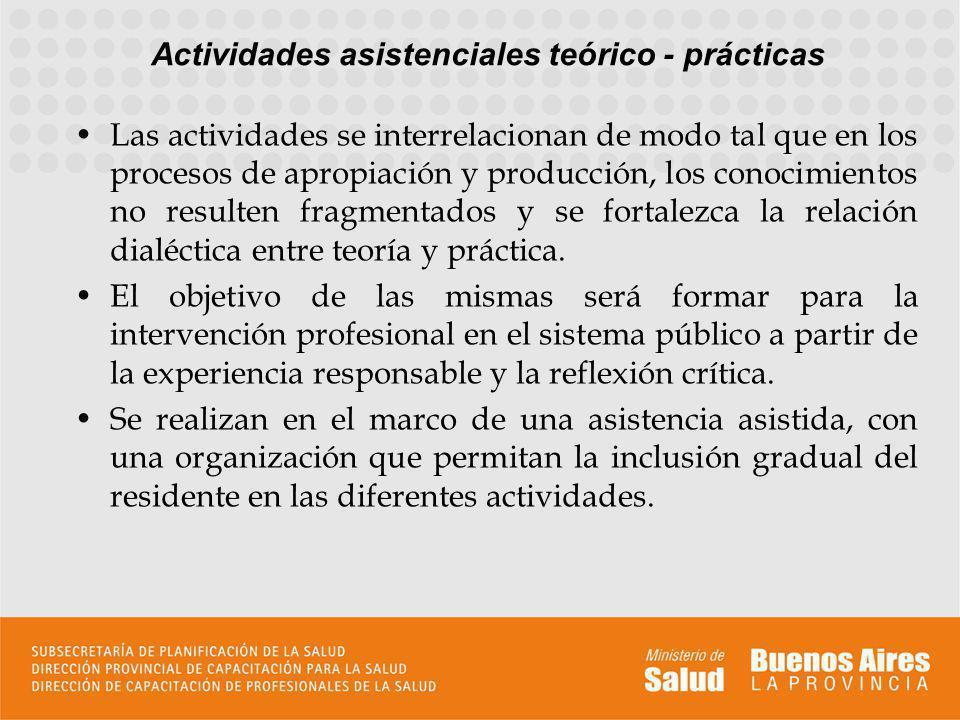 Las actividades se interrelacionan de modo tal que en los procesos de apropiación y producción, los conocimientos no resulten fragmentados y se fortal