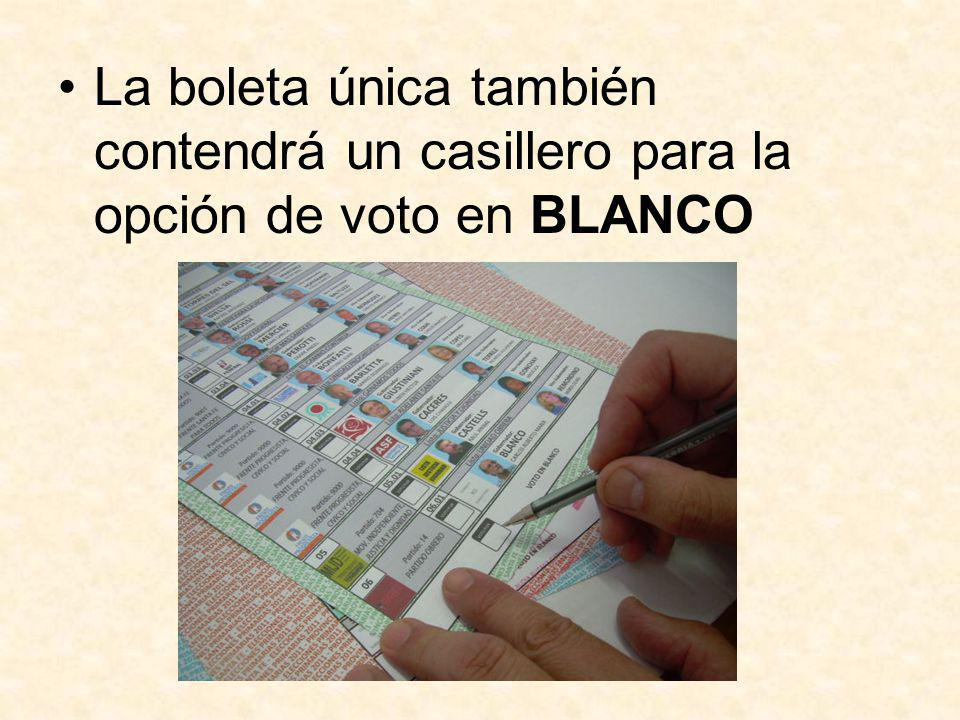 Emisión de Sufragio Dentro de la cabina de votación, el elector debe marcar la opción electoral de su preferencia