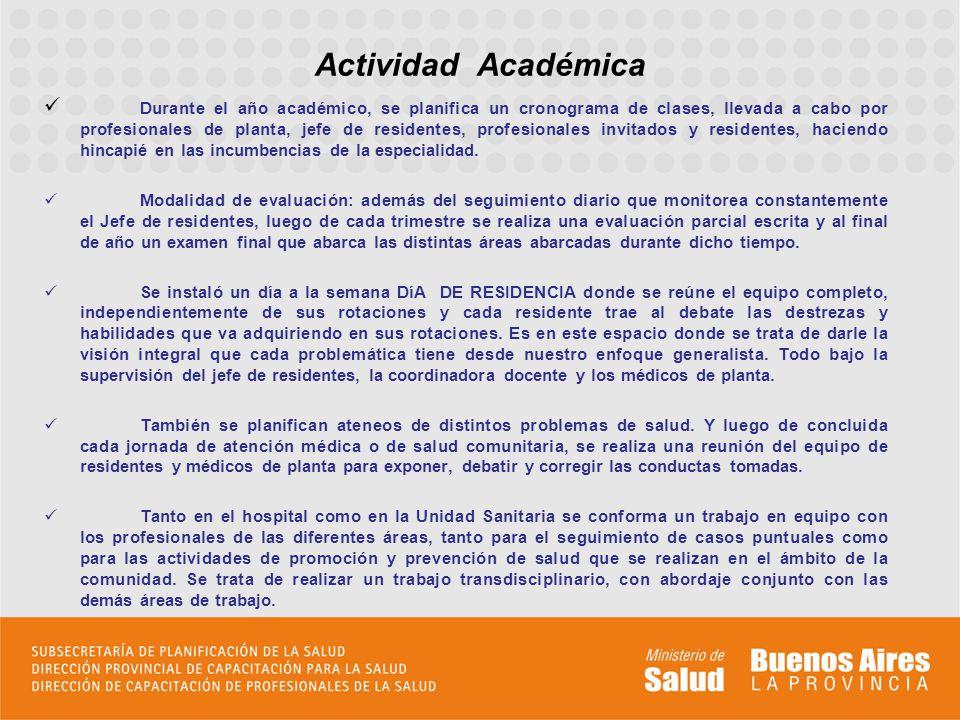 Formación de equipos de investigación, para la elaboración de trabajos científicos, presentados en Jornadas Hospitalarias y Congresos.