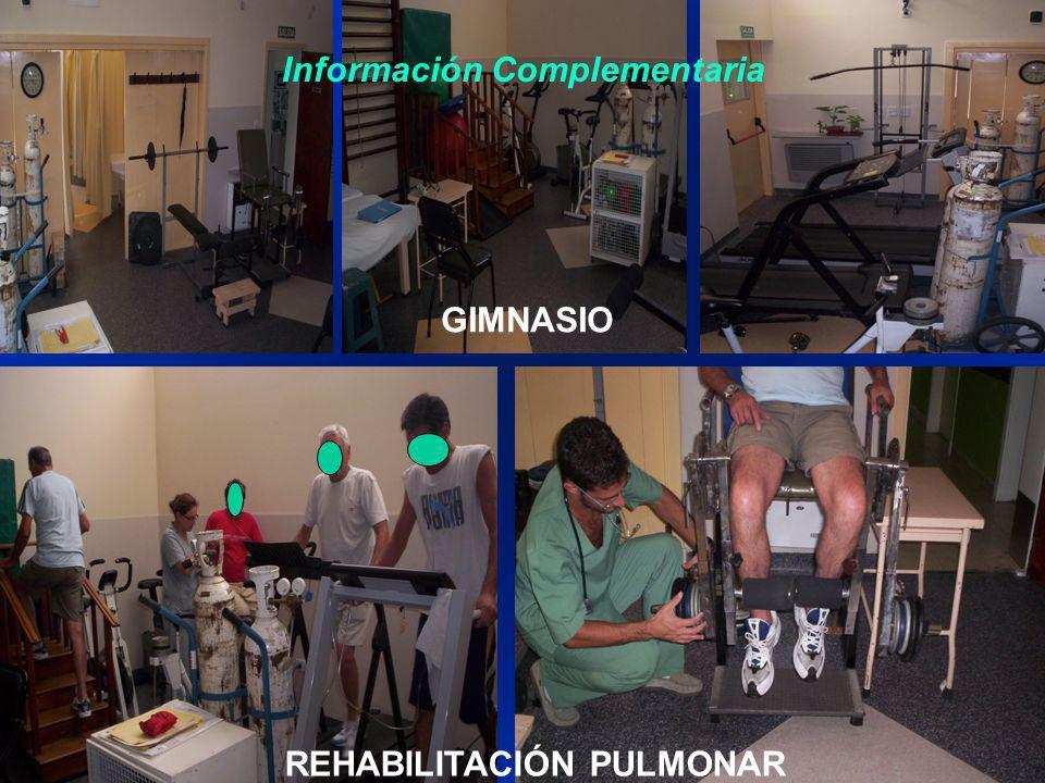 GIMNASIO REHABILITACIÓN PULMONAR Información Complementaria