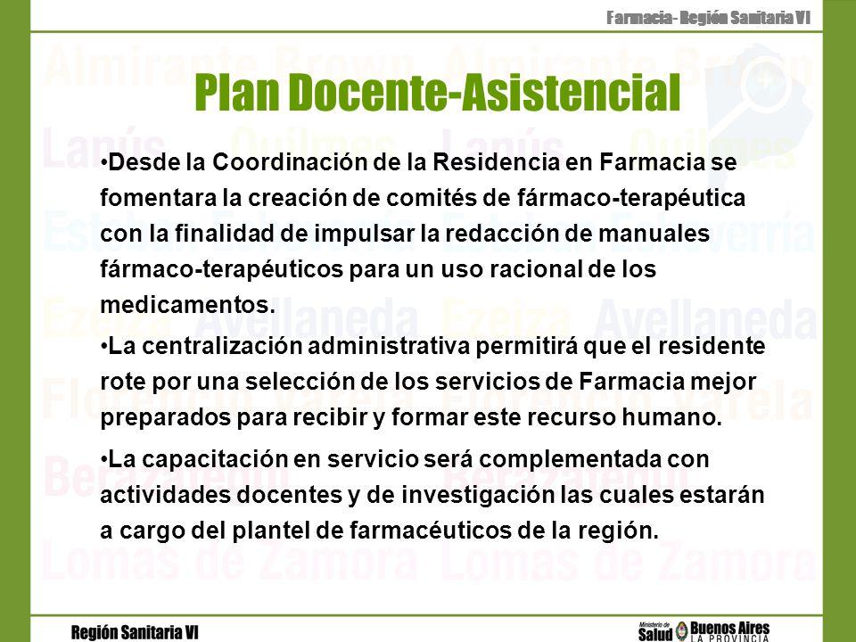 Plan Docente-Asistencial Desde la Coordinación de la Residencia en Farmacia se fomentara la creación de comités de fármaco-terapéutica con la finalida