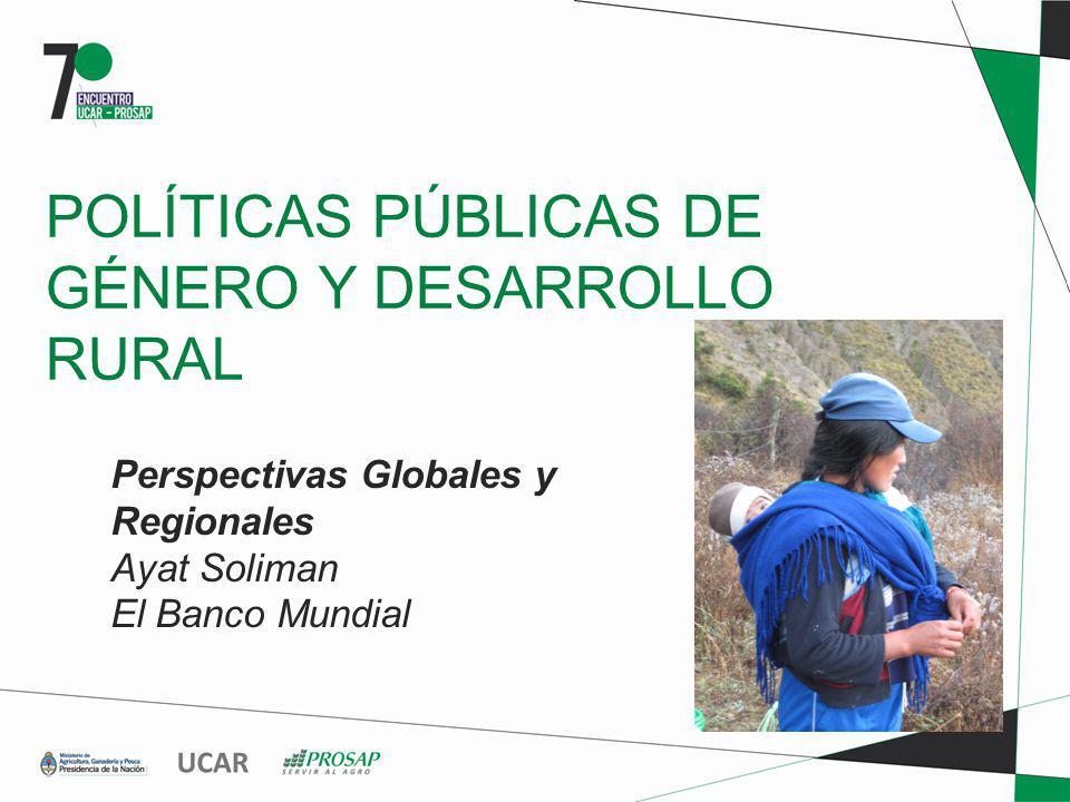 POLÍTICAS PÚBLICAS DE GÉNERO Y DESARROLLO RURAL Perspectivas Globales y Regionales Ayat Soliman El Banco Mundial