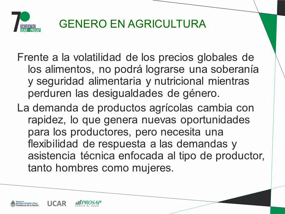 Frente a la volatilidad de los precios globales de los alimentos, no podrá lograrse una soberanía y seguridad alimentaria y nutricional mientras perdu