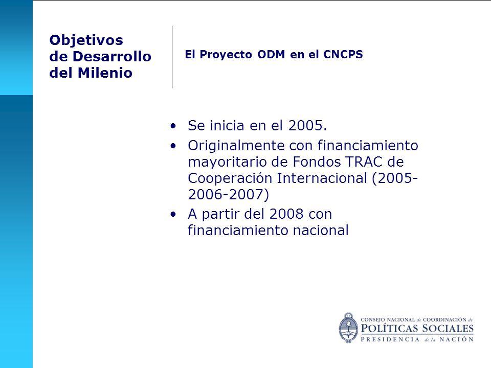 Se inicia en el 2005. Originalmente con financiamiento mayoritario de Fondos TRAC de Cooperación Internacional (2005- 2006-2007) A partir del 2008 con