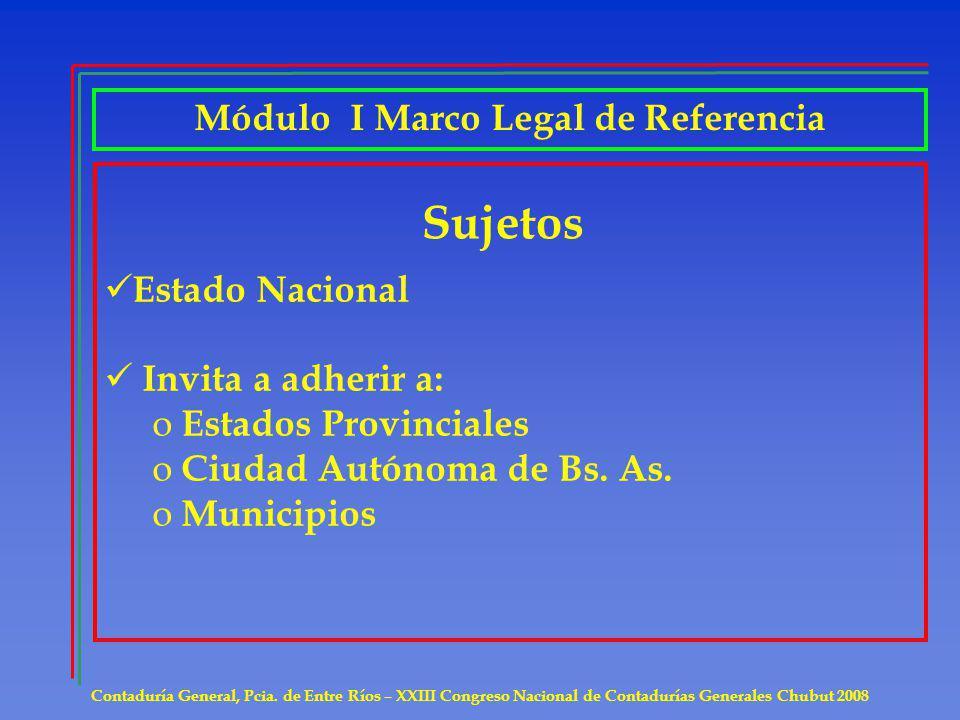 Módulo II Preparación de Informes Contables Presentación en forma trimestral de: Anexo I Art.