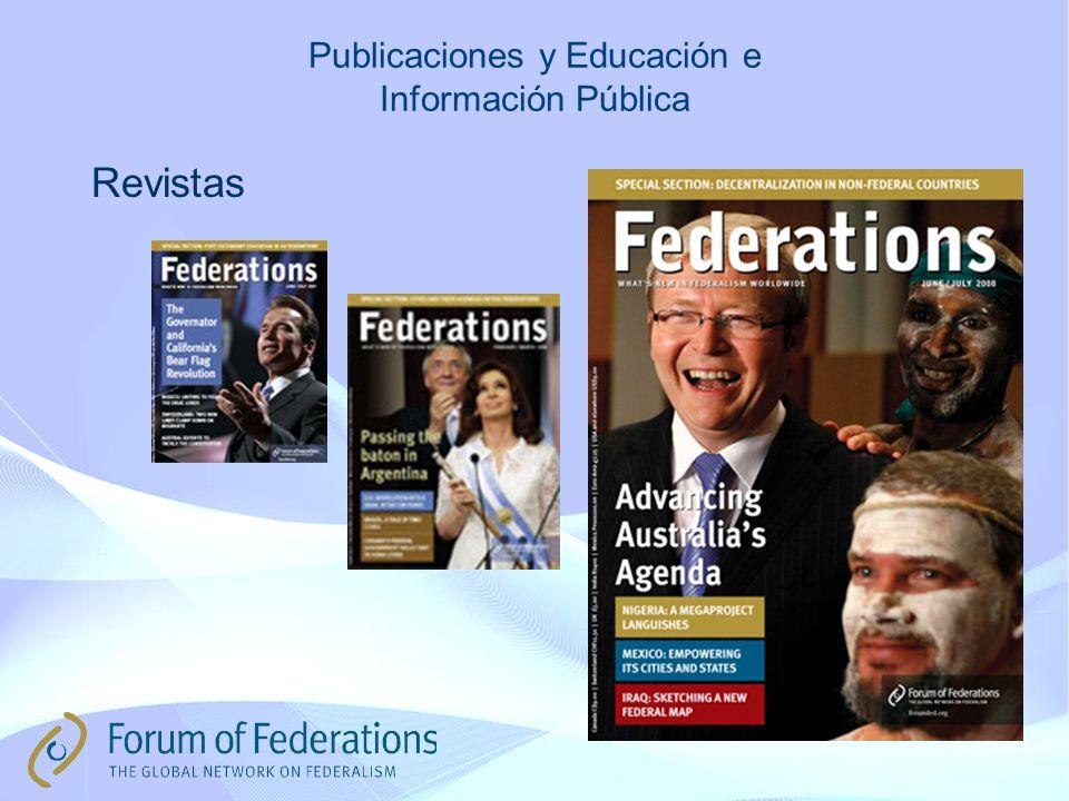 Publicaciones y Educación e Información Pública Revistas