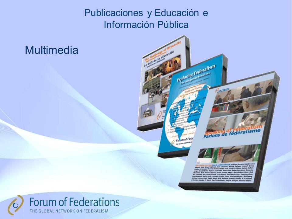 Publicaciones y Educación e Información Pública Multimedia