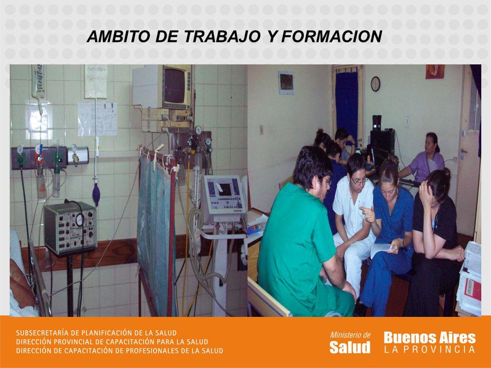 AMBITO DE TRABAJO Y FORMACION