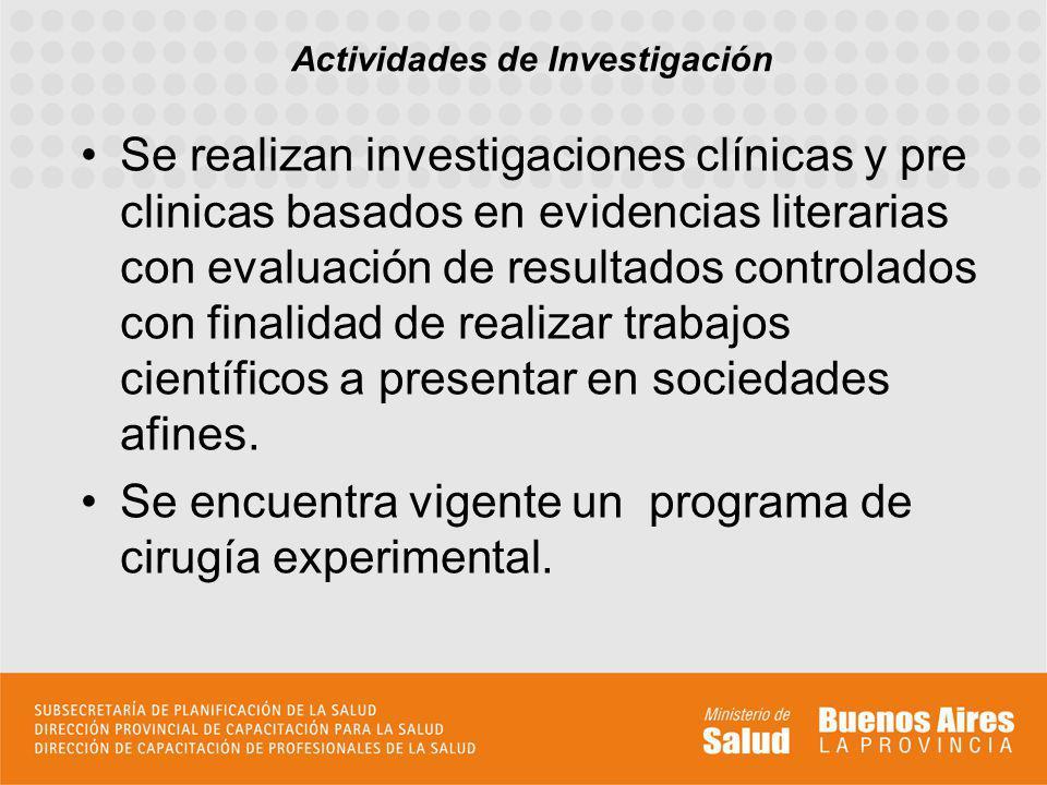 Se realizan investigaciones clínicas y pre clinicas basados en evidencias literarias con evaluación de resultados controlados con finalidad de realiza